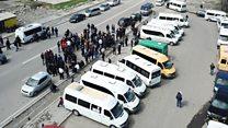Бишкек: жүргүнчүлөр жөө жүгүрүп убара