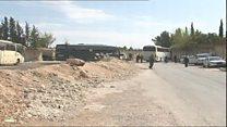 خروج شورشیان وابسته به گروه جیشالاسلام از غوطه شرقی