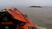 RNLI warn of dangers Birnbeck island