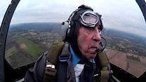 War Spitfire pilot, 96, back in skies