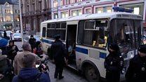 Акция против блокировки Telegram у здания ФСБ закончилась задержаниями