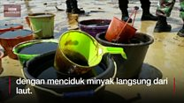 Minyak tumpah di Balikpapan, lima nelayan tewas