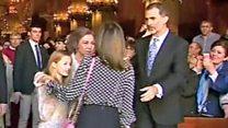 El tenso momento entre Letizia, la reina de España, y su suegra, doña Sofía, en la misa de Pascua