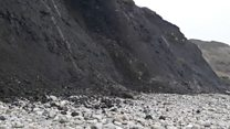 Rockfall captured on Dorset coast