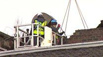 Demolition work begins in Glasgow