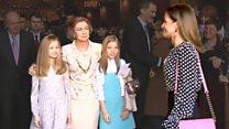 Неловкий момент в королевской семье Испании