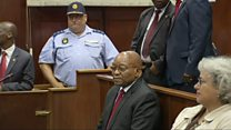 South Africa's Jacob Zuma appears in court