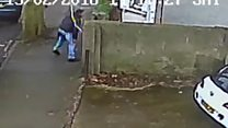 CCTV shows murderer dropping knife