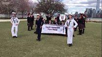 Pipe band tribute to terror attack victim
