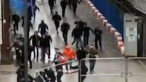 Arrests follow Manchester derby brawl