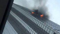حريق في برج ترامب بنيويورك