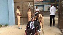 La difficile journée d'un handicapé en Côte d'ivoire