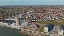 Danish silo demolition goes wrong