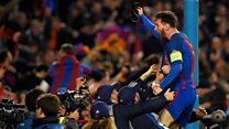 The seismic signal of Lionel Messi