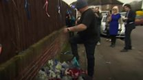 Flower tributes repeatedly destroyed by residents