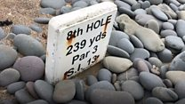 Sea eroding England's oldest golf course