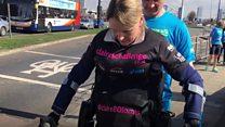 'Bionic woman' walks Manchester Marathon