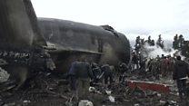 Algeria plane crash scene footage emerges