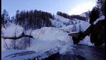 至近距離で雪崩が起きたとき 仏ティーニュ