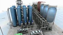 O sistema de resfriamento que armazena o excedente de energia como gás liquefeito