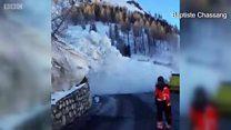 Лавина зійшла на гірськолижний курорт в Альпах