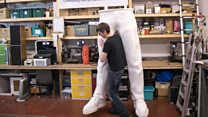 The world's tallest printed man