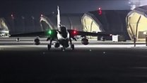RAF planes take off from Cyprus base
