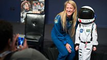 Telling my son: Mommy's going to space