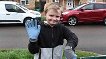Bottle Boy 'superhero' cleans up