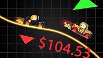 Bitcoin peaks and falls become race tracks