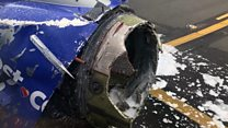 One dead as jet engine rips apart midair