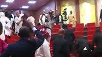 Moment mace is stolen in Nigerian Senate