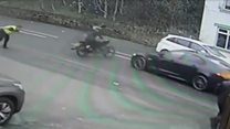 Truck theft ends in dramatic bike crash
