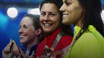 Surprise for gold medal-winning swimmer