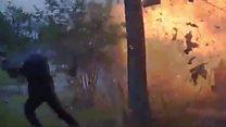 Поліцейський мало не потрапив у саме пекло під час вибуху