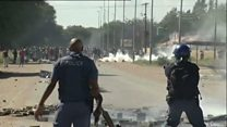 Rubber bullets fired at S Africa protests