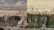 Hemsby: Erosion over time