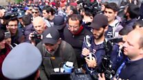 Scuffles as Armenia protest leader detained