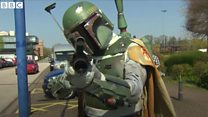Fans dress up for comic con anniversary