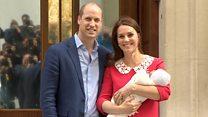 Кейт и Уильям впервые показали своего третьего ребенка