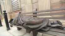 Homeless Jesus Christ statue unveiled