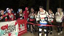 Paralysed man walks London Marathon