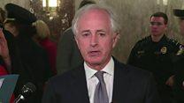 Why is this US senator on verge of tears?