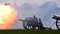 Gun salutes celebrate royal baby