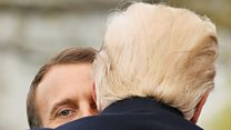 Trump and Macron's most touching moments