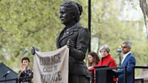 First woman statue on Parliament Square
