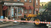 Cash machine stolen in shop ram-raid