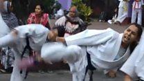 আত্মরক্ষায় কারাটে-জুডো শিখছে নারীরা