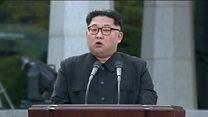 Kim Jong-un calls for peace in speech