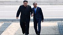 دیدار رهبران کره شمالی و جنوبی در مرز دو کره